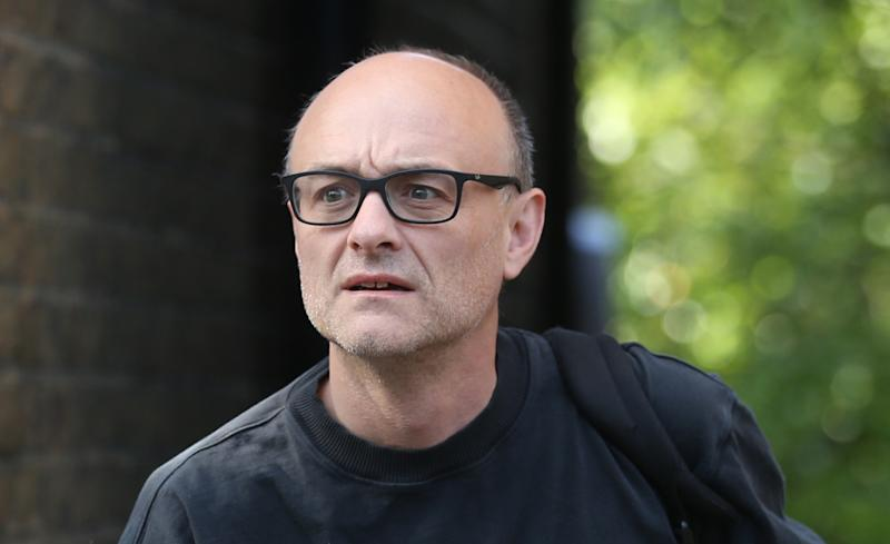 Prime Minister Boris Johnson's top aide Dominic Cummings leaves his north London home as the row over his trip to Durham during lockdown continues. Picture date: Thursday May 28, 2020.