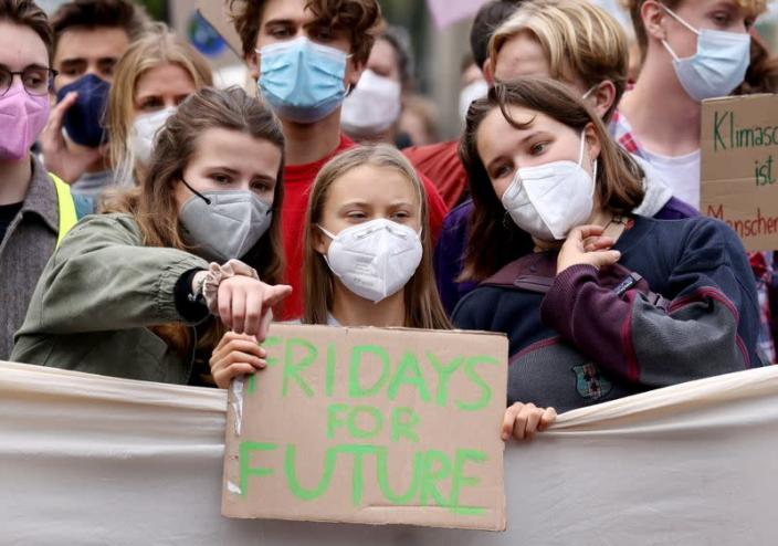 Global Climate Strike of the movement Fridays for Future, in Berlin