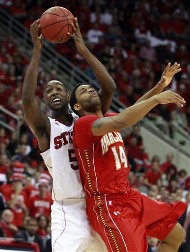 Leslie leads NC State past Maryland 79-74