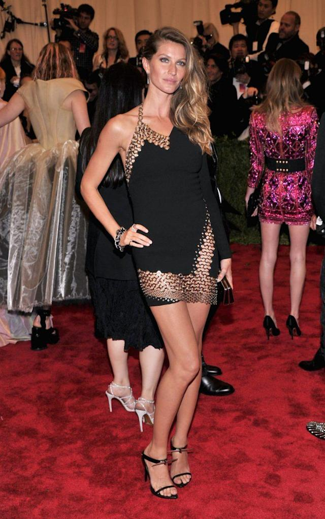 "Gisele Bündchen at the ""Punk: Chaos to Couture"" Met Gala. (Photo: Getty)"
