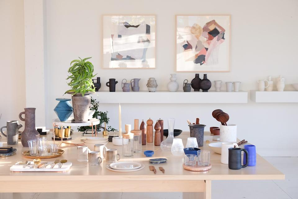 """<p><strong>Set the scene for us. What's this store all about?</strong><br> You'll want everything in <a href=""""https://www.cntraveler.com/destinations/austin?mbid=synd_yahoo_rss"""" rel=""""nofollow noopener"""" target=""""_blank"""" data-ylk=""""slk:Austin"""" class=""""link rapid-noclick-resp"""">Austin</a> transplant Currie Person's gorgeous Grand Avenue fishbowl, which is filled with luxurious handcrafted homewares. And, for the most part, you can have it all; except for the vintage 1970s Gerard van den Berg leather sofa, which is not for sale, no matter how hard you beg. Natural light pours through huge west-facing picture windows, fresh vases of Hilary Horvath flowers cast bright bursts of color across the high-ceilinged space, and the spare surfaces within the gallery-white walls hold treasures for a discerning designer: oversized azure blue vases by New York ceramicist Judy Jackson, smoky black jewel vases by Danish interior designer Louise Roe, Thompson Street Studios' hand-sewn abstract quilted pillows, and ethereal hand-hammered brass tea scoops from Japan. If Person wants to charge us rent, we'll gladly move in—immediately.</p> <p><strong>What are some likely purchases?</strong> <br> Delicate sterling silver–caged Keshi pearl earrings by Hernán Herdez, funky brass geometric candle holders by Copenhagen-based Frama, playful terracotta vases by L.A. artist Bari Ziperstein, and wonderfully eccentric wood-fired bump bowls from Mondays, a ceramics studio in Brooklyn.</p> <p><strong>If money is no object, what should we look at?</strong><br> That ridiculously comfortable Galanter & Jones radiant-heated outdoor loveseat in the window. Made by delightful <a href=""""https://www.cntraveler.com/destinations/san-francisco?mbid=synd_yahoo_rss"""" rel=""""nofollow noopener"""" target=""""_blank"""" data-ylk=""""slk:San Francisco"""" class=""""link rapid-noclick-resp"""">San Francisco</a>–based brother-sister duo Aaron and Miranda Jones as part of their Helios line, the elegant river-rock-smooth piece will look great in your"""