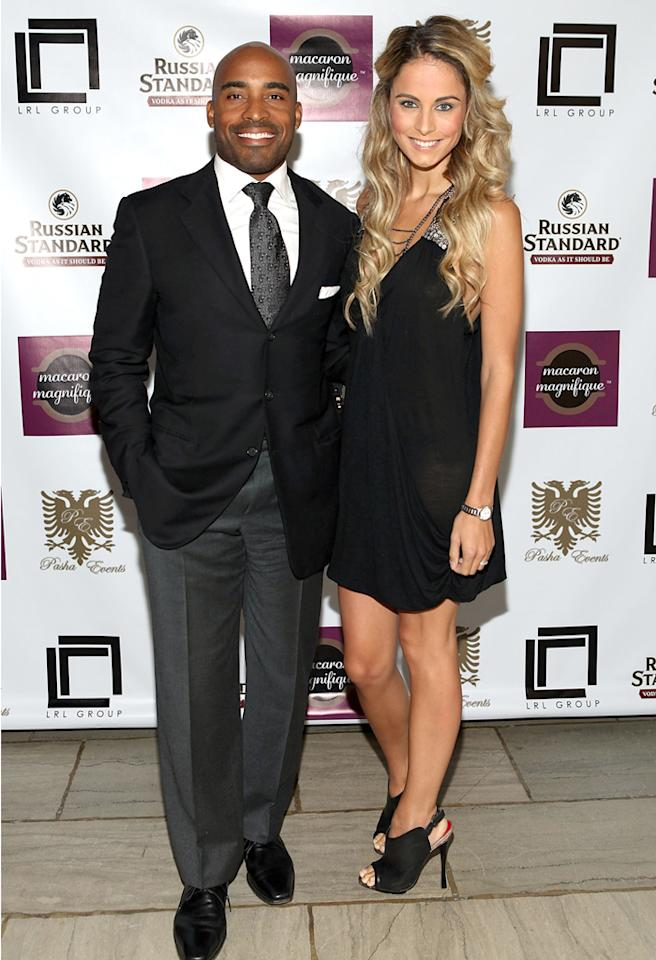 """NEW YORK, NY - AUGUST 30:  Tiki Barber (L) and Traci Lynn Johnson attend Celebrity Stylist Lauren Rae Levy """"30 Stylish Years"""" Birthday Soiree  at Riverside Church on August 30, 2012 in New York City.  (Photo by Robin Marchant/WireImage)"""