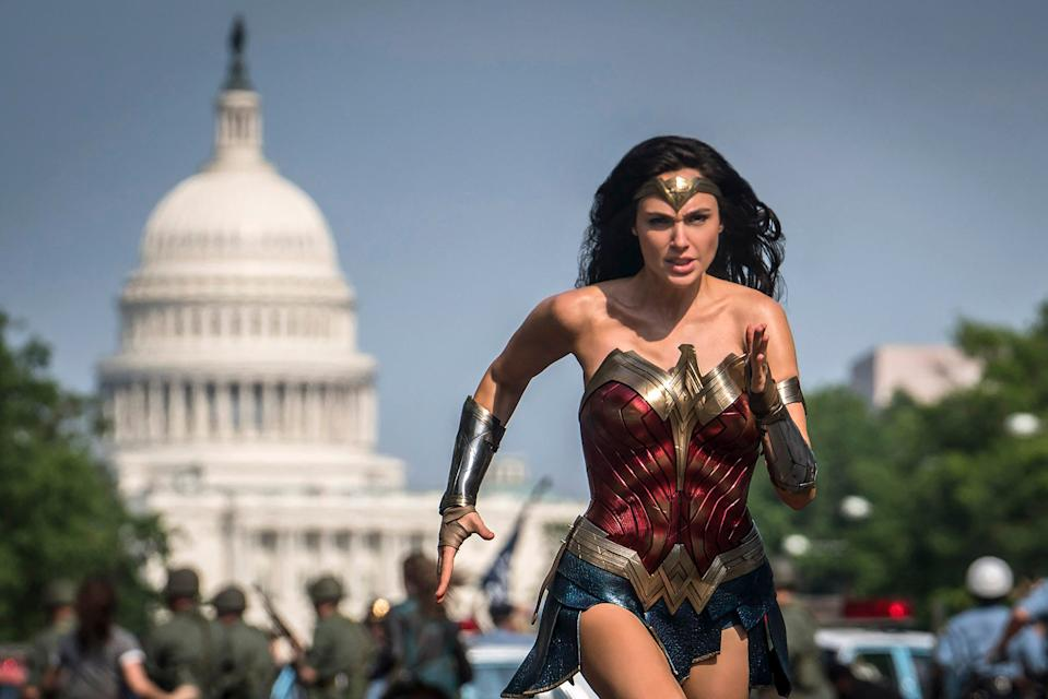 "Gal Gadot's back in action, in the 1980s and with the nation's capital as a backdrop, in the superhero sequel ""Wonder Woman 1984."""