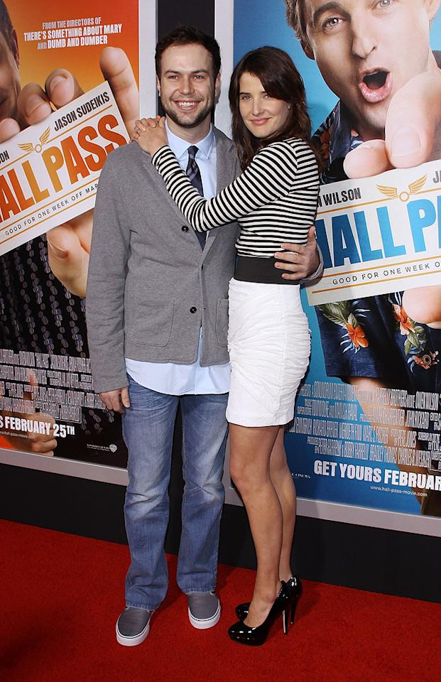 """<a href=""""http://movies.yahoo.com/movie/contributor/1809159744"""">Cobie Smulders</a> and guest attend the Los Angeles premiere of <a href=""""http://movies.yahoo.com/movie/1810133702/info"""">Hall Pass</a> on February 23, 2011."""