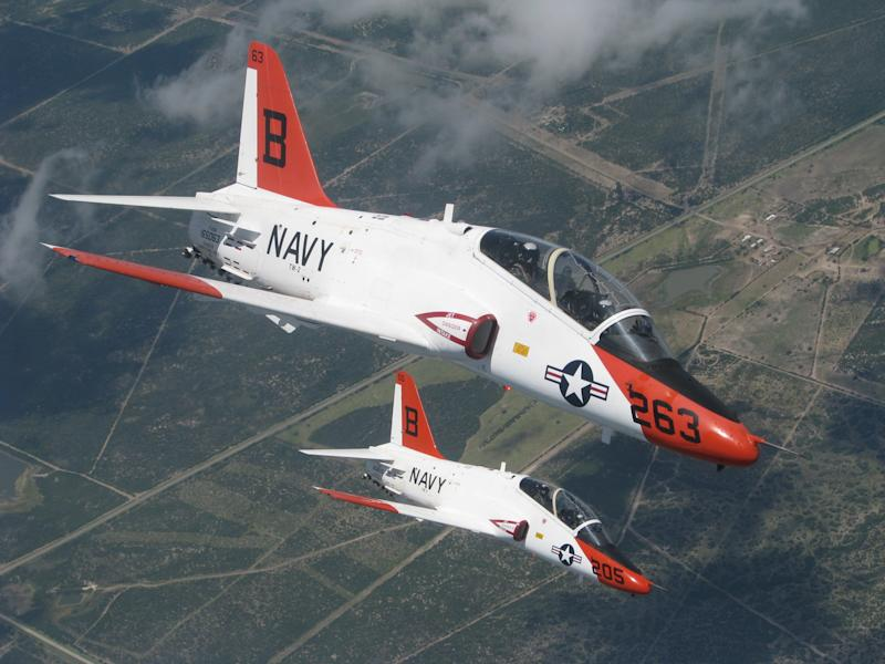 T 45 A Goshawk Navy fighter plane jet