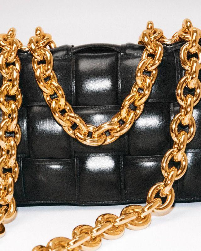 """<p>The look in leather now and moving forward is all about that textural padding—be it on bags, shoes, or coats. Bottega Veneta helped usher in this trend. </p><p><a href=""""https://www.instagram.com/p/CBv1qGup-eS/?utm_source=ig_web_copy_link"""" rel=""""nofollow noopener"""" target=""""_blank"""" data-ylk=""""slk:See the original post on Instagram"""" class=""""link rapid-noclick-resp"""">See the original post on Instagram</a></p>"""