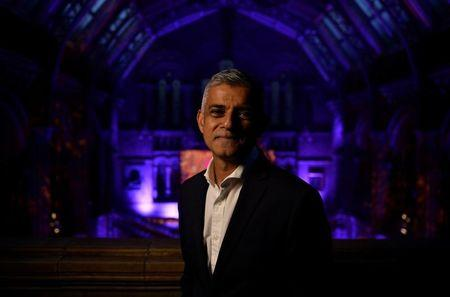 The mayor of London Sadiq Khan speaks at the launch of the city's Autumn Season of Culture at the Natural History Museum in London
