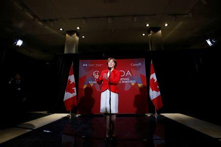 B.C. Premier Christy Clark takes part in a news conference during the First Ministers' meeting in Ottawa