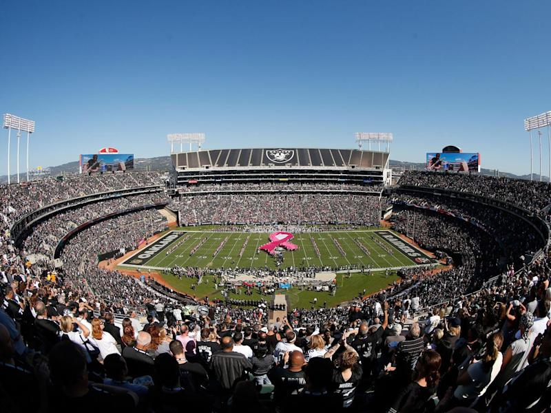 The Raiders are leaving Oakland in favour of a new home in Las Vegas (Getty)