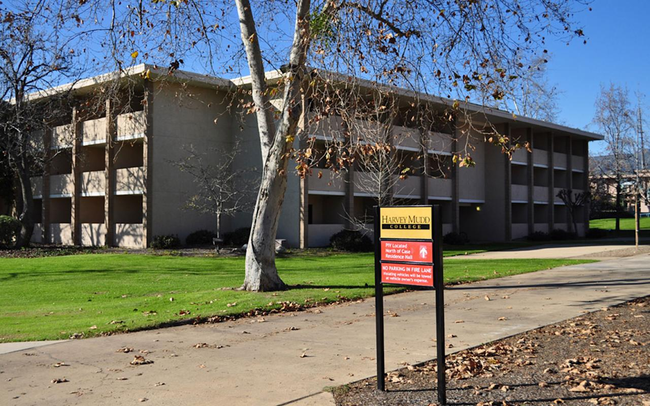 """<p>Architect Edward Durell Stone considered Harvey Mudd College (completed in 1955) to be a Modernist masterpiece with a twist. His take on Modernism involved layering the drab slab-sided buildings with Beaux-Arts decoration. The result: knobbly concrete squares that students of Harvey Mudd affectionately call """"warts"""" and use as hooks for skateboards. They even created an unofficial mascot, Wally Wart, which appears on college paperwork, in the shape of a personified concrete wart.</p>"""
