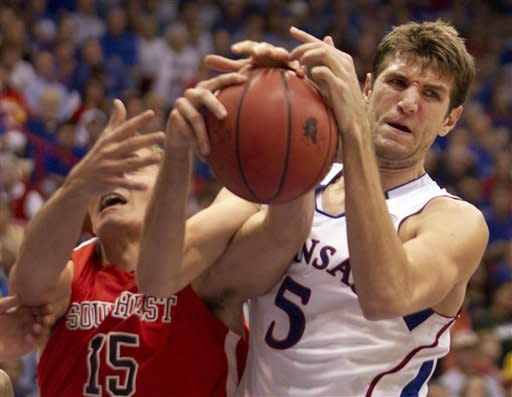 No. 7 Kansas beats SE Missouri State, 74-55