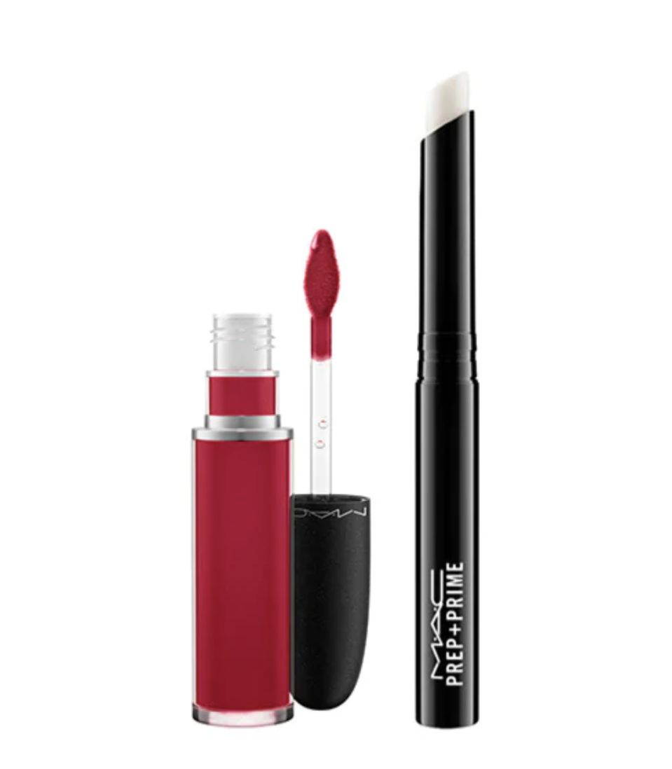 Red-y for Matte Liquid Lip Duo. Image via MAC.