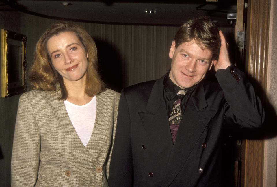 Emma Thompson and Kenneth Branagh at the 18th Annual LA Film Critics Association Awards, Bel Age Hotel, West Hollywood. (Photo by Ron Galella/Ron Galella Collection via Getty Images)