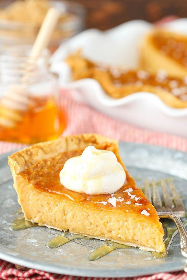 """<p>This blogger calls her custard confection """"to die for."""" Even the skeptics will polish off their plates in no time.</p><p><strong>Get the recipe at <a href=""""https://www.lifeloveandsugar.com/salted-honey-pie/"""" rel=""""nofollow noopener"""" target=""""_blank"""" data-ylk=""""slk:Life, Love and Sugar"""" class=""""link rapid-noclick-resp"""">Life, Love and Sugar</a>.</strong> </p>"""