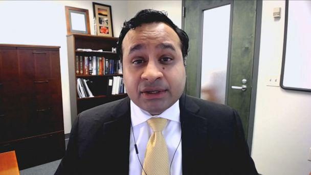 PHOTO: Dr. Aneesh Mehta of Emory University appears on 'Good Morning America,' April 30. 2020. (ABC News)