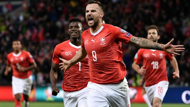 Haris Seferovic and Edimilson Fernandes scored as Switzerland blew Euro 2020 qualification Group D wide open with a win over Ireland.