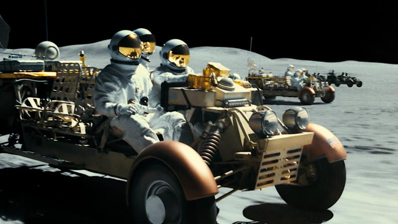 The moon has become a lawless space outpost in James Gray's 'Ad Astra'. (Credit: 20th Century Fox)