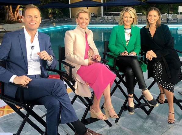 Tom Steinfort, deborah knight, georgie gardner and brooke boney today show panel
