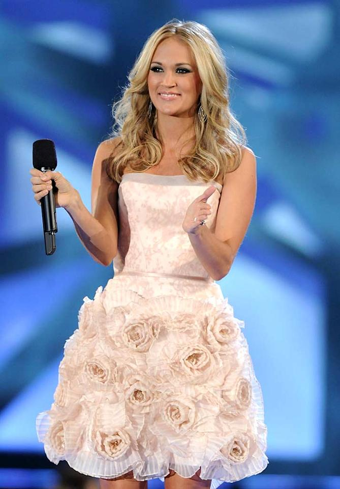 """Former """"American Idol"""" Carrie Underwood has really hit her style stride since winning the reality competition in 2005. But she's modest about it as always, telling <i>In Style</i> that, """"at the end of the day, I love sweats. I do enough glamming up for awards show and whatnot, so I can wear sweats whenever I want and it kind of evens itself out."""" Nothing's cuter than a down-to-earth gal! Rick Diamond/<a href=""""http://www.gettyimages.com/"""" target=""""new"""">GettyImages.com</a> - November 10, 2010"""