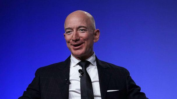 PHOTO: Amazon CEO Jeff Bezos, founder of space venture Blue Origin and owner of The Washington Post, participates in an event hosted by the Air Force Association Sept. 19, 2018, in National Harbor, Md. (Alex Wong/Getty Images)