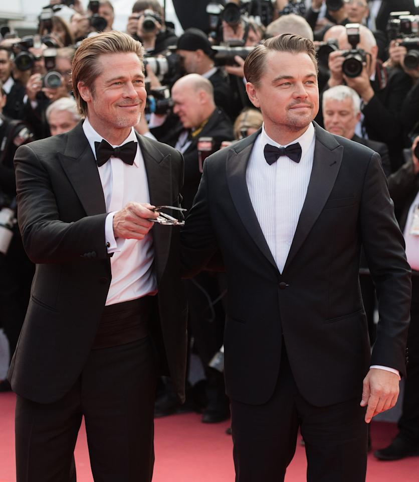 Just a Bunch of Photos of Brad Pitt and Leonardo DiCaprio Looking Hot Together