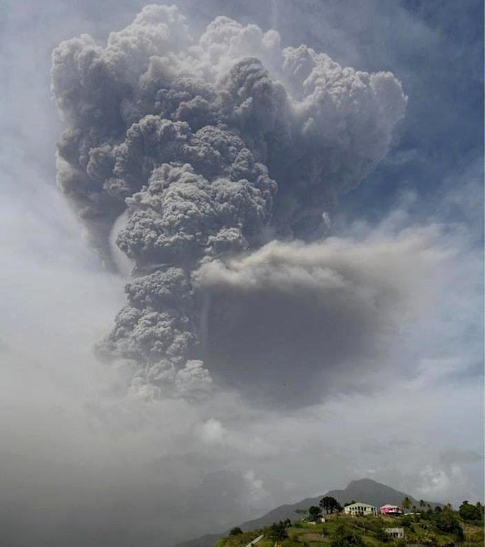 The volcanoes of St. Vincent and the Grenadines record the second major eruption