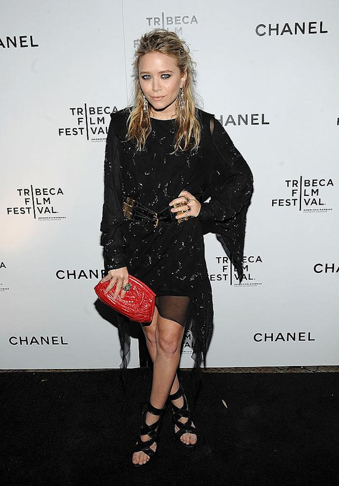 "Mary-Kate Olsen shot a sultry look on the red carpet at the Tribeca Film Festival's Chanel Dinner. The mini-mogul says she is excited to be a juror for the annual fest. Jamie McCarthy/<a href=""http://www.wireimage.com"" target=""new"">WireImage.com</a> - April 23, 2009"