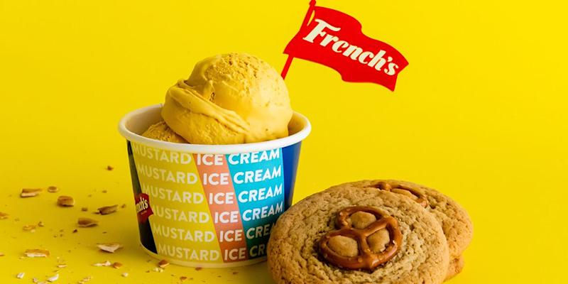 French's creates mustard flavored ice cream to celebrate National Mustard Day