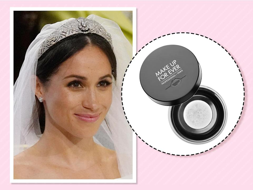 "<p>When she is wearing makeup, you can count on the duchess to finish her look with a light dusting of this setting powder to ensure it lasts all day long. ""I love the Make Up For Ever HD Powder,"" <a href=""https://www.allure.com/story/meghan-markle-suits-beauty-tips?verso=true"" rel=""nofollow noopener"" target=""_blank"" data-ylk=""slk:she told Allure."" class=""link rapid-noclick-resp"">she told <em>Allure</em>.</a> (Photo: Getty Images)<br><strong><a href=""https://fave.co/2PpD5AL"" rel=""nofollow noopener"" target=""_blank"" data-ylk=""slk:Shop it"" class=""link rapid-noclick-resp"">Shop it</a>:</strong> $36, <a href=""https://fave.co/2PpD5AL"" rel=""nofollow noopener"" target=""_blank"" data-ylk=""slk:sephora.com"" class=""link rapid-noclick-resp"">sephora.com</a> </p>"