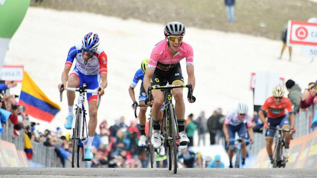 Simon Yates passed another huge test in the mountains on Sunday, claiming a maiden Giro stage win to take a 32-second lead.