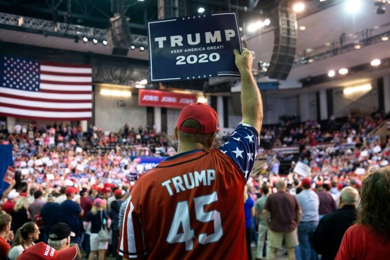 Trump said at the Louisiana rally he was convinced he would win in 2020, no matter what Supporters attend US President Donald Trump's rally in Lake Charles, Louisiana, on October 11 (AFP Photo/SAUL LOEB)