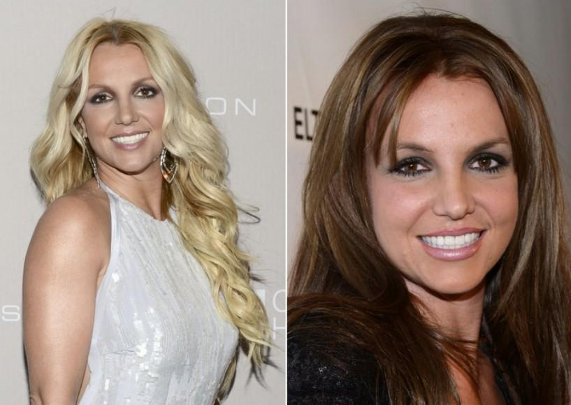 "<div class=""caption-credit""> Photo by: Getty</div><div class=""caption-title""></div>Britney Spears went brunette and appropriately started playing up the smokey eye makeup to complete her darker look. <br>"