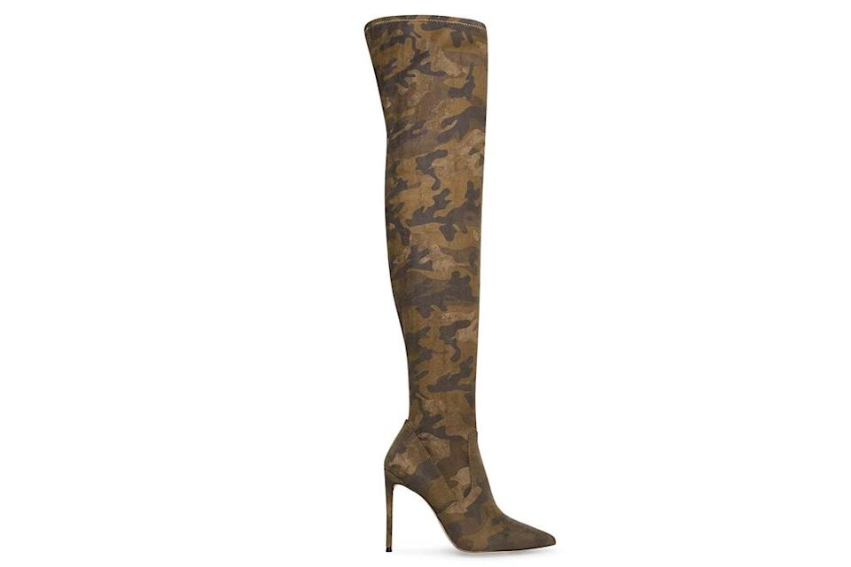 camo boots, camouflage boots, pointed-toe, steve madden
