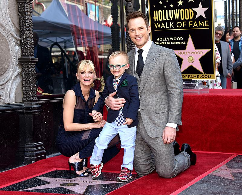 """<p>The <em>Guardians of the Galaxy</em> star's wife and adorable 4-year-old son, Jack, were pretty proud of Pratt when he was honored with a star on the Hollywood Walk of Fame. <a rel=""""nofollow"""" href=""""http://people.com/celebrity/chris-pratt-thanks-anna-faris-in-hollywood-walk-of-fame-speech/"""">During his speech</a>, the actor thanked the many important people in his life, including Faris. """"I want to thank my wife Anna, I love you. You've given me so much. You gave me the greatest star in the galaxy in my little boy, I love him and I love you,"""" he said. """"We have bonded to make this molecule that is more important to me than air or water, and without it none of this means anything to me. With every challenge, with every day, week, month, decade, we become more bonded. You make me laugh like nobody else. You're very caring, and thank you for your trust and your sacrifice — and for your dedication and your heart. I will do my best to protect it, and in return I will give you all of those things as well. You have my heart, my dedication, my trust."""" Aw. (Photo: AKM-GSI) </p>"""