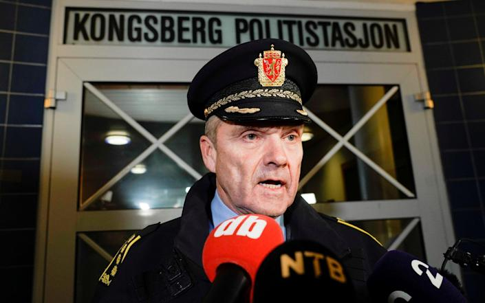 Police chief Ole B. Saeverud said the man was known to police - REUTERS
