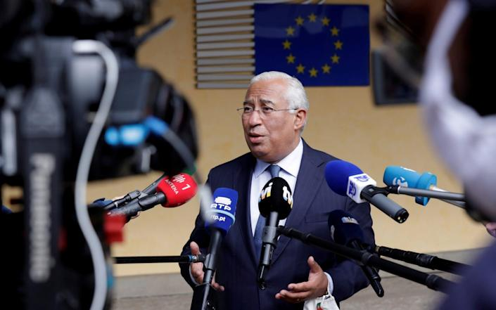 Antonio Costa, Portugal's prime minister, outside European Commission headquarters in Brussels earlier this year. - Reuters