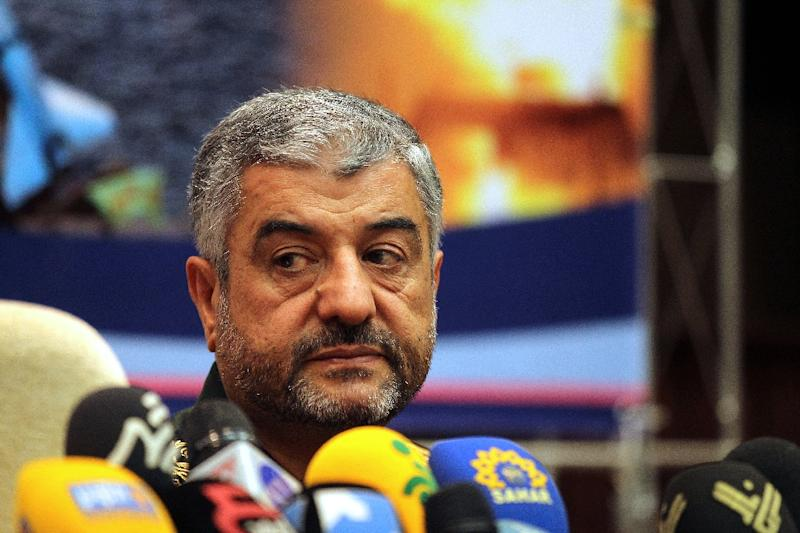 Iranian Revolutionary Guards commander Mohammad Ali Jafari answers questions during a 2012 press conference in Tehran (AFP Photo/Atta Kenare)