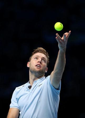 Tennis - ATP World Tour Finals - The O2 Arena, London, Britain - November 14, 2017 USA's Jack Sock in action during his group stage match against Croatia's Marin Cilic REUTERS/Hannah McKay