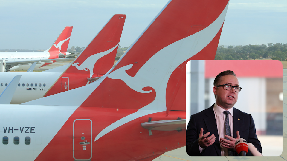 Qantas won't rule out standing down workers as COVID-19 lockdowns hit travel. Source:Getty