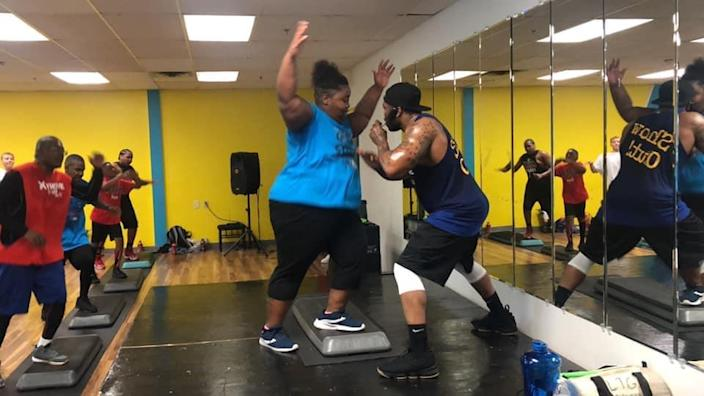 Hall has taken Xtreme Hip-Hop with Phil classes since late 2018 and says her strength and endurance have grown greatly as a result. (Jewel Hall)