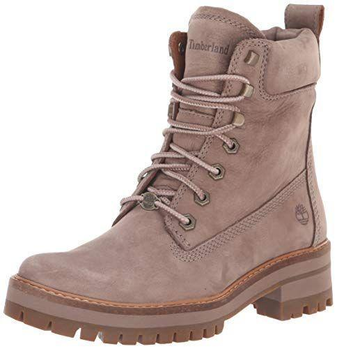 """<p><strong>Timberland</strong></p><p>amazon.com</p><p><strong>$159.95</strong></p><p><a href=""""https://www.amazon.com/dp/B079332QTS?tag=syn-yahoo-20&ascsubtag=%5Bartid%7C2164.g.32598715%5Bsrc%7Cyahoo-us"""" rel=""""nofollow noopener"""" target=""""_blank"""" data-ylk=""""slk:Shop Now"""" class=""""link rapid-noclick-resp"""">Shop Now</a></p><p>These combat-style boots are fashionable <em>and</em> functional, thanks to a textured sole. Just keep in mind that they're not waterproof! </p>"""