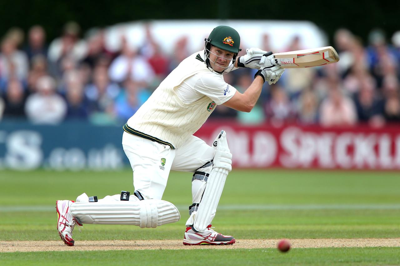 Australia's Shane Watson during 100 not out before lunch on day one of the International Warm up match at New Road against Worcestershire, Worcester.