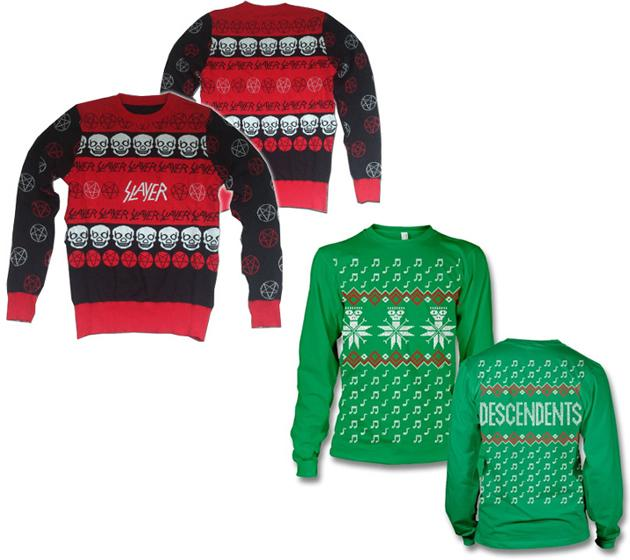 slayer descendents christmas sweater - Metal Band Christmas Sweaters