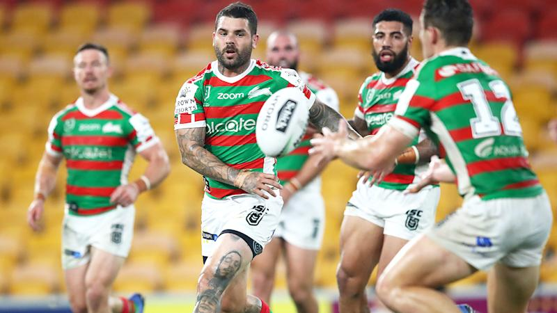 South Sydney players, pictured here in action during round 2 of the 2020 season.
