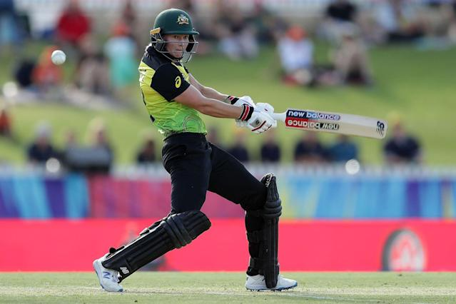 Australia skipper Meg Lanning in action