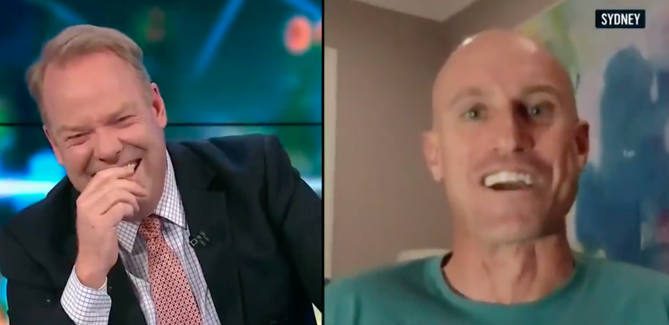 Peter Helliar and Fitzy on The Project