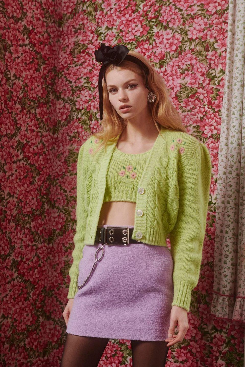 <p>It might be cold, but that won't stop us from wearing mini skirts. (Pair 'em with tights if you get goosebumps easily.)</p><p><em>Alessandra Rich</em></p>