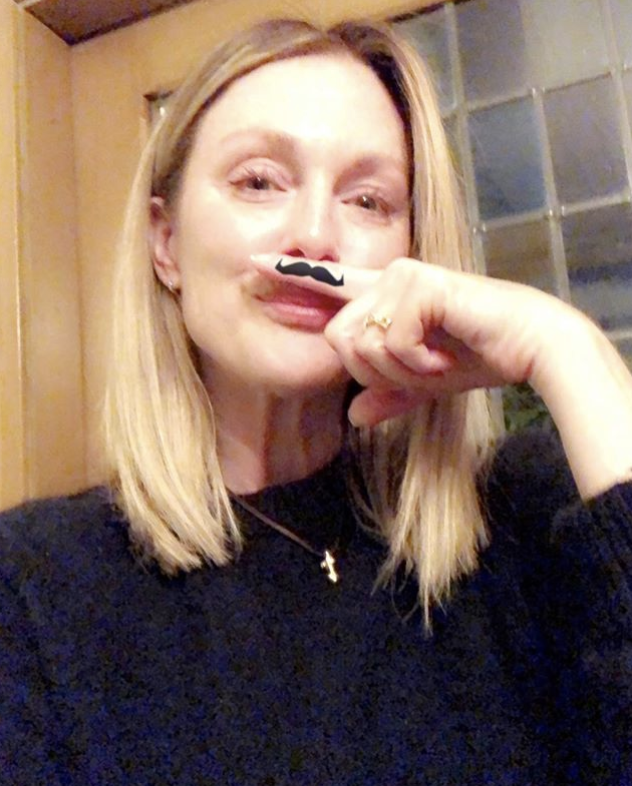 """<p>""""Hey, it's @movember!"""" the actress, showing off her stache, reminded followers. The annual event — involving the growing of moustaches during the month of November — is to raise awareness of men's health issues, such as prostate cancer, testicular cancer, and men's suicide. """"Join me and @lorealmen and change the face of men's health,"""" she urged. """"You can donate at <a rel=""""nofollow noopener"""" href=""""https://us.movember.com/donate?utm_medium=affiliate&utm_source=dynamic&utm_campaign=loreal-juliannemoore"""" target=""""_blank"""" data-ylk=""""slk:movember.com/juliannemoore"""" class=""""link rapid-noclick-resp"""">movember.com/juliannemoore</a>. It's worth it!"""" (Photo: <a rel=""""nofollow noopener"""" href=""""https://www.instagram.com/p/BbP_8qcDKur/?taken-by=juliannemoore"""" target=""""_blank"""" data-ylk=""""slk:Julianne Moore via Instagram"""" class=""""link rapid-noclick-resp"""">Julianne Moore via Instagram</a>) </p>"""