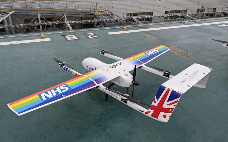 Using the drones to help in the Covid-19 response will avoid courier call-out waiting times, free-up NHS staff, reduce unnecessary physical contact and minimise the risk of secondary transmission of the virus. - Annalisa Russell-Smith/PA