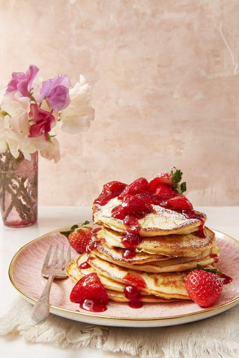 """<p>It's not dessert, it's breakfast. And we're going to keep telling ourselves that.</p><p><em><a href=""""https://www.goodhousekeeping.com/food-recipes/a43665/strawberry-cheesecake-flapjacks-recipe/"""" rel=""""nofollow noopener"""" target=""""_blank"""" data-ylk=""""slk:Get the recipe for Strawberry Cheesecake Flapjacks »"""" class=""""link rapid-noclick-resp"""">Get the recipe for Strawberry Cheesecake Flapjacks »</a></em></p>"""